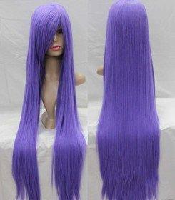 Anime Wig Lavender Purple 100cm long straight wig(China (Mainland))