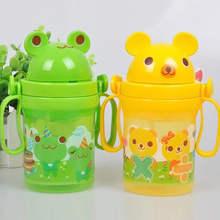 Durable Baby Kids Straw Cup Drinking Bottle Sippy Cups With handles Cute Design#YE1050(China (Mainland))