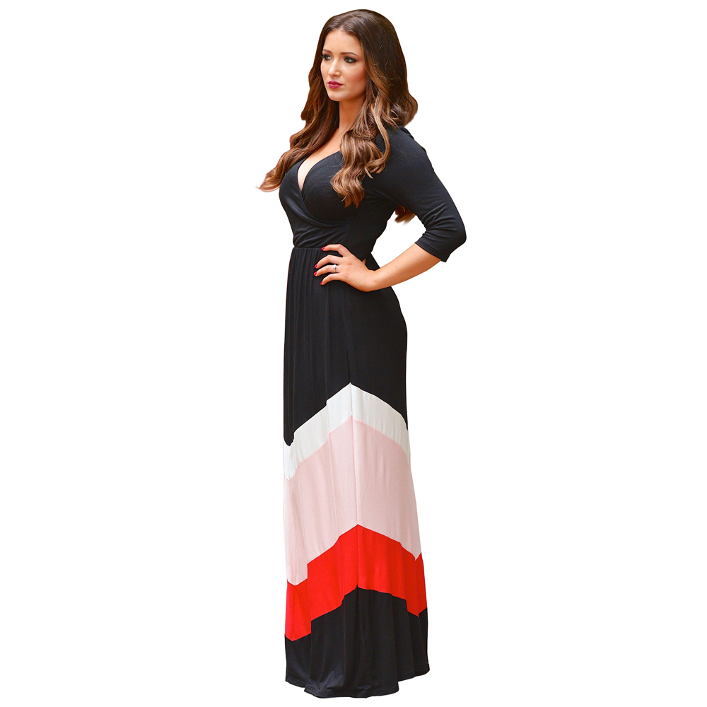 Women Maxi Dress Bohemian stripe short Sleeve Floor-Length Summer Long Dresses Robe Longue Femme vestidos plus size dresses