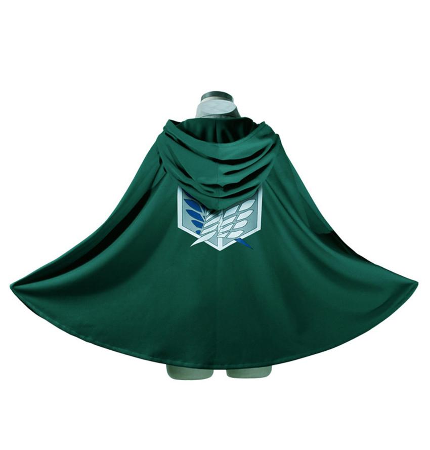 Cos Anime Attack Titan Shingeki Kyojin clothes wing freedoom Eren Levi Scouting Legion Top Cosplay Cloak Cape Coat - HiRudolph store