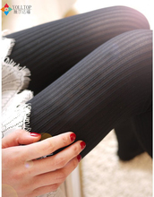 Buy women tights 2016 Spring autumn style women cotton tight Vertical stripes Pure color women pantyhose tights wholesale