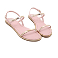 Summer new flat with sequins female sandals flat down simple sweet casual beach shoes women s