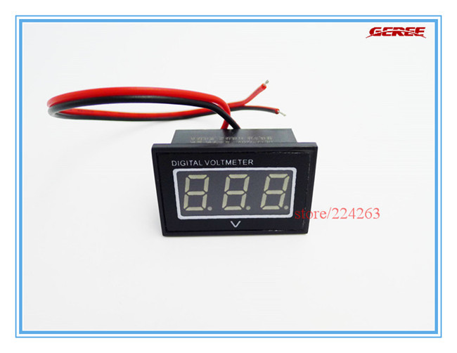 1 DC Panel Meter Blue Voltmeter 15-120V Electric Car 24V 36V 48V 60V 72V 96V Waterproof Dust-proof Shockproof