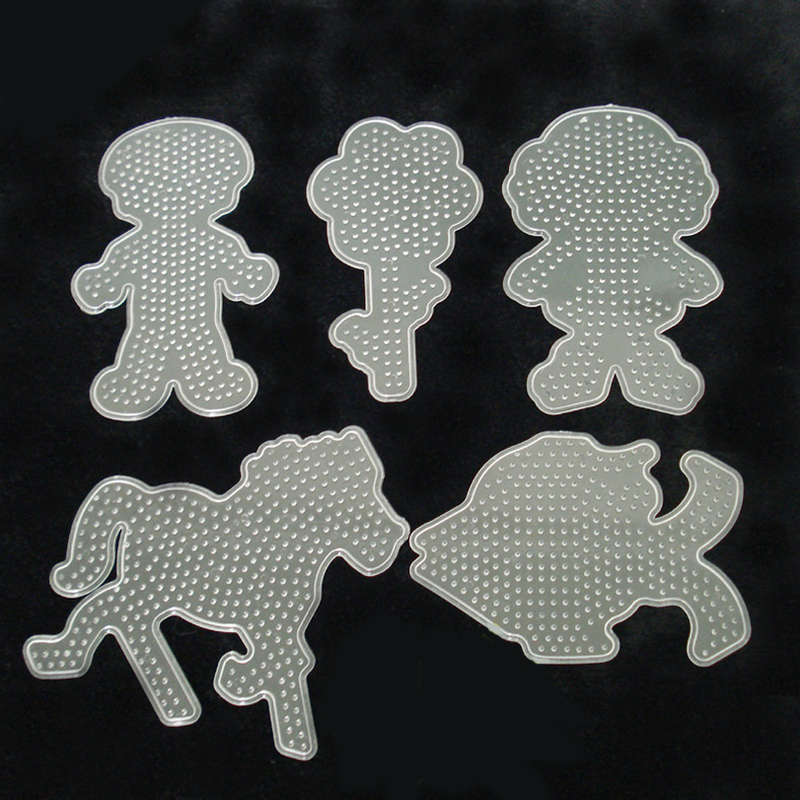 1 Pc Clear 6 Model 5mm EVA Fight Beans Template DIY Toys Children Creative Plastic Puzzle Education Cartoon Animal New Year Gift(China (Mainland))