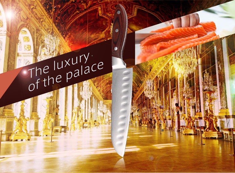 """Buy 2016 LD 8""""Japanese style damascus chef knife 9Cr18Mov stainless steel kitchen knives sharp chef knife with wood handle cheap"""