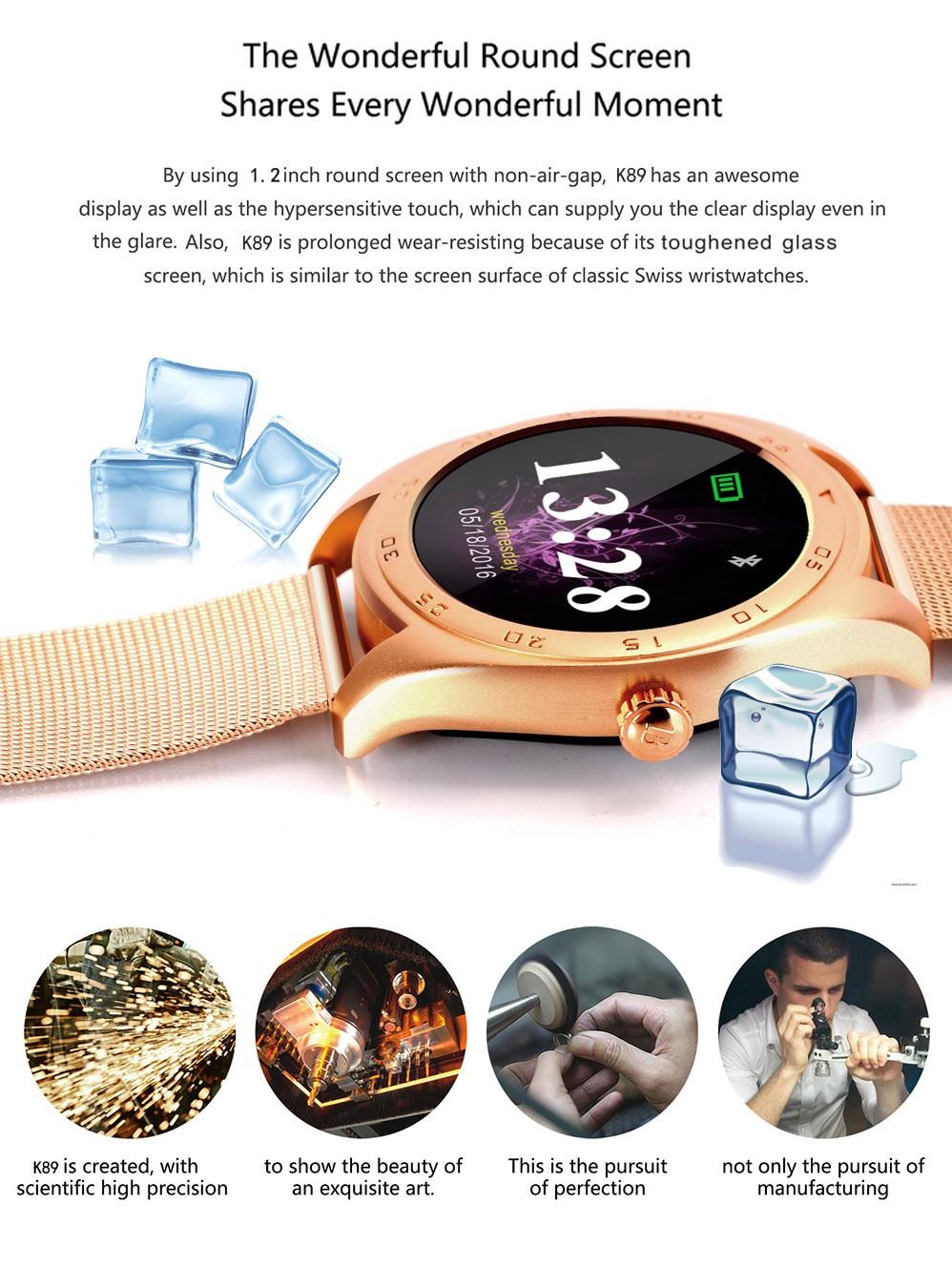 ถูก พารากอนS Mart W Atch K89 h Eart rate monitorสายรัดข้อมือรัสเซียภาษาฮิบรูเกาหลีสำหรับxiaomiแอปเปิ้ลบลูทูธสมาร์ทนาฬิกาK88H MOTO 360