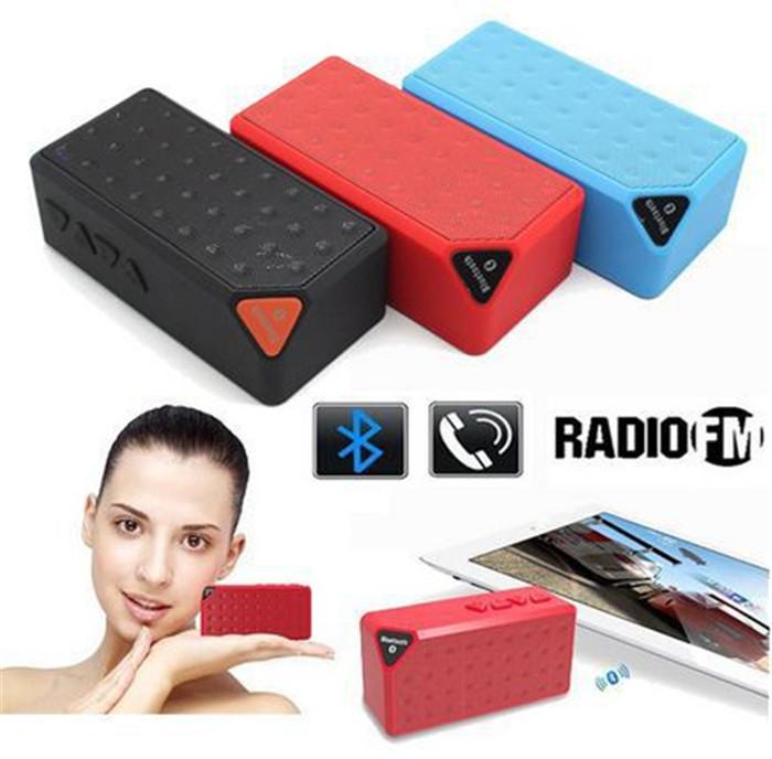 Аудио колонка X3 Mini Bluetooth Speaker Bluetooth X 3 jamboX TF USB FM boX Mic caiXa mini cylinder shaped bluetooth v2 0 speaker w fm tf mini usb usb blue black transparent