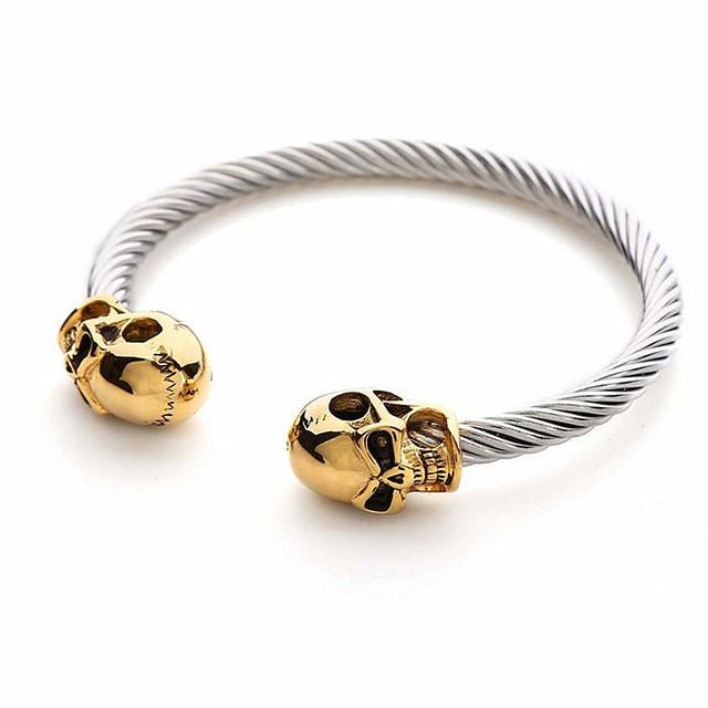 Высокое качество металла браслет Ретро моды браслет черепа с мужчин и женщин моды ...