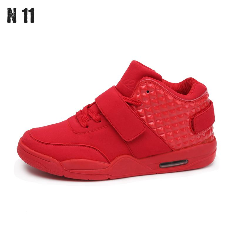 2016 Brand Designer Winter Fashion Men Shoes High Top Red Suede Leather Boots Men's Causal Shoes Sport Male Shoes Zapatos Hombre(China (Mainland))