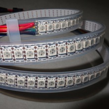 Buy Addressable 2m 144LEDs/m DC5V WS2813 RGB full color led pixel strip;waterproof silicon tube;IP66,with 144pixels/M;WHITE PCB for $27.00 in AliExpress store