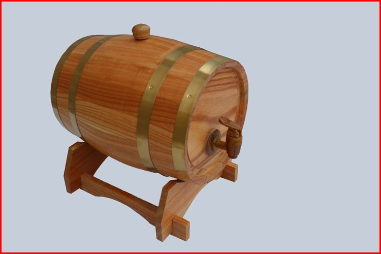 5L Wooden Barrels Wine Bucket Beer barrel Oak barrels Decoration Keg Home-berw Red wine Barrel(China (Mainland))
