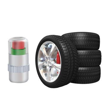 Tire Pressure Monitor Valve Stem Cap Sensor Indicator 32 Psi 2.2 Bar Air Warning Alert Valve Pressure Diagnostic Tools Kit