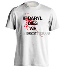 Buy Daryl Dies Riot Walking Dead Zombies Mens & Womens Letters Printed T shirt for $14.74 in AliExpress store