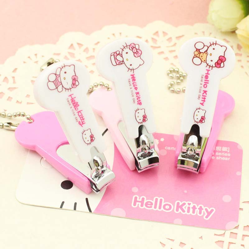 KT cat stainless steel nail scissors for baby Children Cute Hello Kitty Cartoon toe nail clippers Tools manicure beauty tool(China (Mainland))