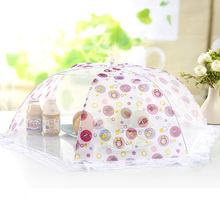 Quality lace food cover fruit cover Large folding food cover umbels dust cover keep the table clean(China (Mainland))
