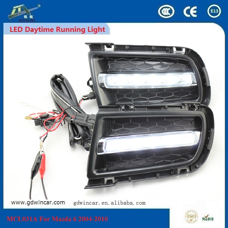 LED Daytime Running Lamps For Mazda 6 2004 - 2010 SMD LED For Cooling Good Corrosion Resistance Heat And Flame Resistance OEM <br><br>Aliexpress