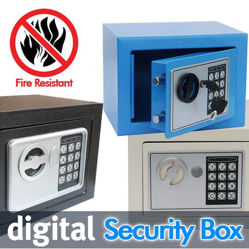 Digital safe box is Fire Drill Resistant Ideal for Home Office use! Safety Security Box keep Cash Jewelry or Documents Securely<br><br>Aliexpress