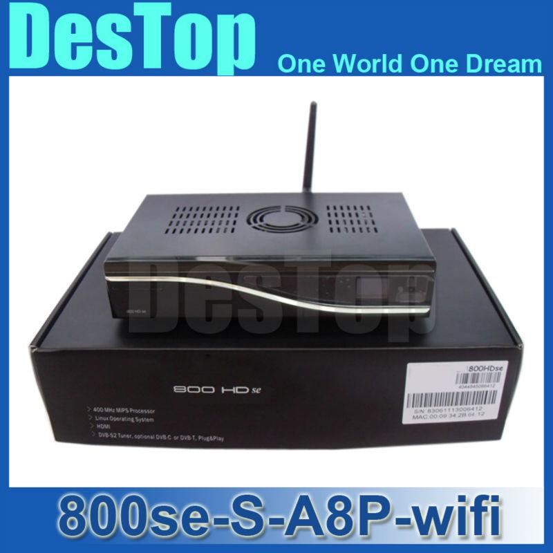 800se A8P Sim card Wifi original software Satellite Receiver Bootloader 84 BCM4505 Tuner DM800hd se wifi fedex Free Shipping(China (Mainland))