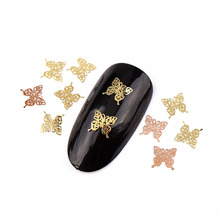About 1000pcs/lot Beautiful Defferent Butterfly Shape Nail Art Metal Thin Piece For Nail Art Ornaments 290060(China (Mainland))
