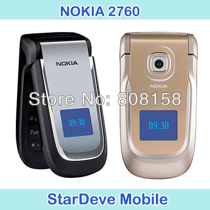 2760 Unlocked Original Cheap Mobile Phone Nokia 2760 Bluetooth MP3 Video FM Radio Java Games(China (Mainland))