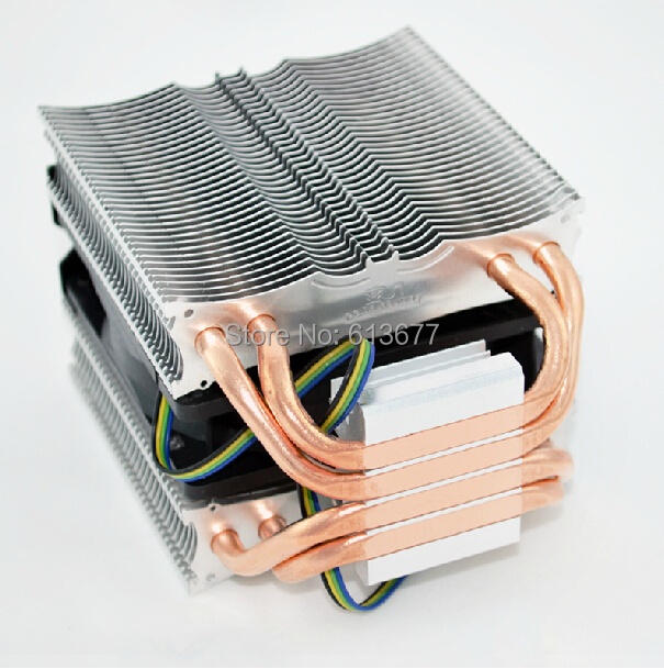 4PIN 9cm fan, 4 heatpipe dual-tower, Intel LGA775/1150/1155, AMD AM2+/AM3+/FM1/FM2, CPU radiator, CPU Fan, CoolerBoss CAH-409-09(China (Mainland))