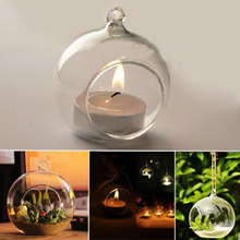 Brand New Hanging Crystal Glass Candlestick Holder Home Table Decor Hot(China (Mainland))