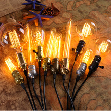 Antique Vintage Retro 40 W 220 V Bombilla Edison E27 bombillas incandescentes Bombilla de filamento Edison lámpara lámpara miniatura Bombilla de Edison Bombilla(China (Mainland))