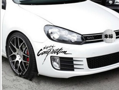 2015 Rushed Promotion The Whole Body Car Sticker Motorcycle Cool Rally Sticker 28*13cm Car Styling Toyota Vw Polo Pet(China (Mainland))