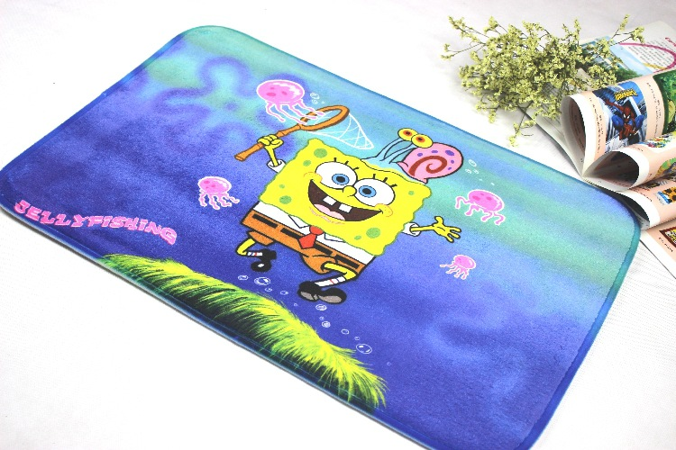 Wholesale Carpet Manufacturers Selling High Quality Export Absorbent Doormat Spongebob Mat For Bathroom Free Shipping(China (Mainland))