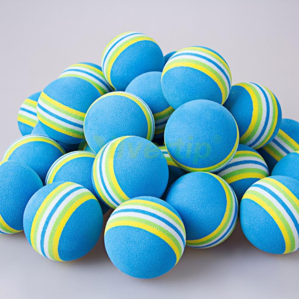 Free Shipping 30pcs Blue Rainbow EVA Foam Golf Balls BRB Sponge Indoor Outdoor Practice Training Aid Swing Backyard 2015 New(China (Mainland))