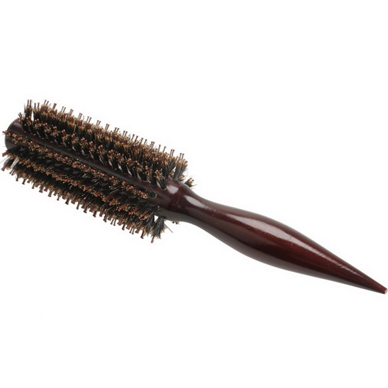 2016 новый 1 шт. вьющиеся волосы расческой радиальная кисть деревянной ручкой щетины джейд-статический парикмахерские кабан щетина парик кисть щетка для волос ST1 #
