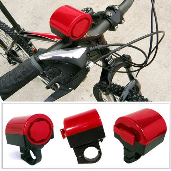 Red Electronic Cycling Bicycle Bike Alarm Warning Loud Siren Sound Speaker Bell Horn H1E1(China (Mainland))