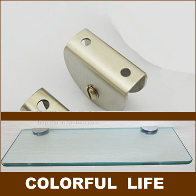 Stainless steel glass clip, shelf clip, glass laminates Shelf support ,size 27mm*38mm*17mm ,Bathroom Hardware(China (Mainland))