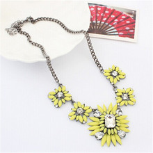 N060 Summer flowers female long necklace necklace small and pure  fresh flowers Free shipping necklace(China (Mainland))