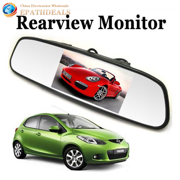 Univeral 4.3 Inch Color TFT LCD Parking Car Rear View Mirror Monitor 4.3'' Rearview Monitor for Backup Reverse Camera(China (Mainland))