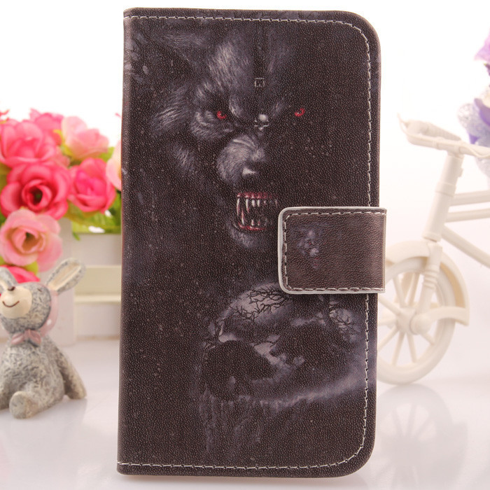 Colored Drawing Accessories PU Leather Case For Qumo Quest 507 Cell Phone Cover Book Style And Card Holder--High Quality(China (Mainland))