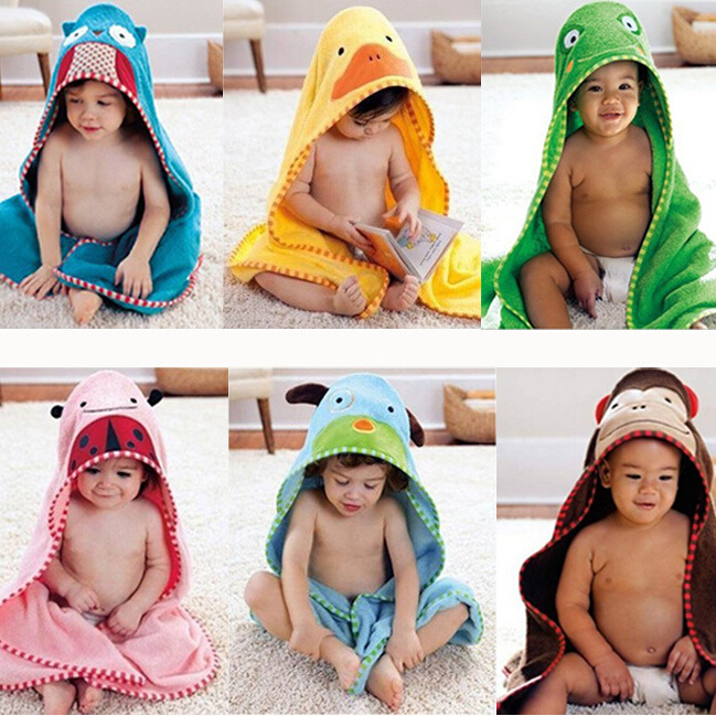 Retail 1 piece Hooded Animal modeling Baby Bathrobe/Cartoon Towel/Character kids bath robe/infant towels nh1461 - Best E-service Store store