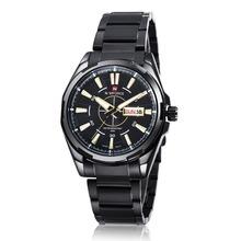 Nueva men ' s reloj NAVIFORCE marca militar relojes banda de acero reloj de moda a prueba de agua los deportistas de ocio de reloj