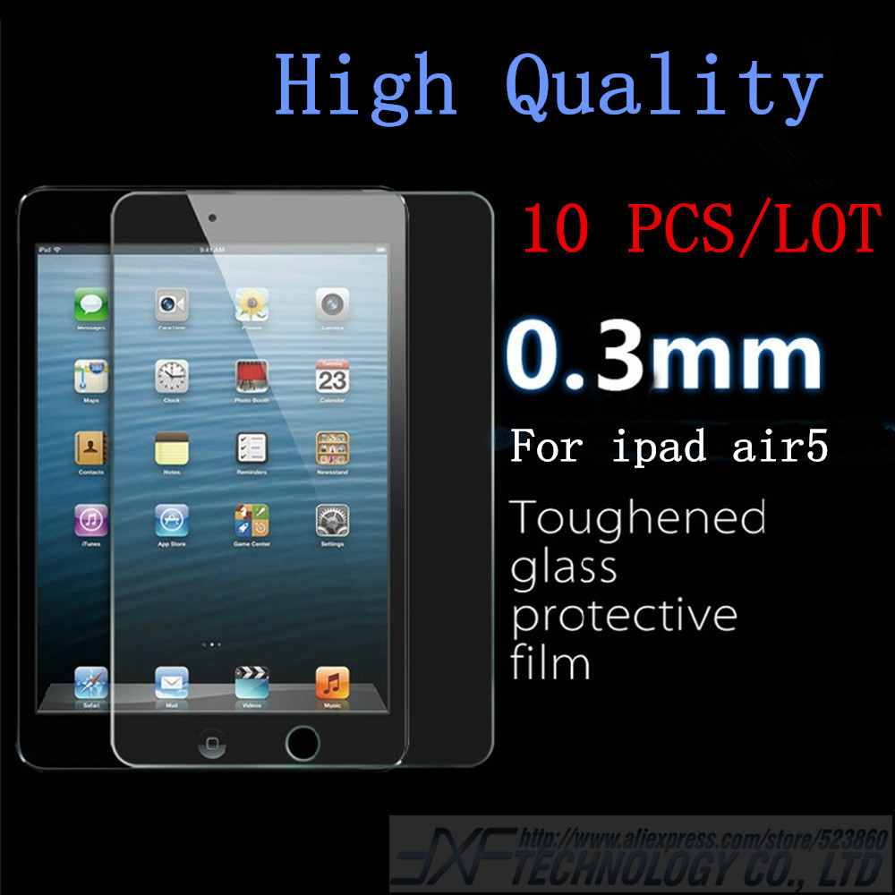 Hot Selling Tempered Glass Screen Protector For ipad air with Retail box Explosion Proof Clear Toughened