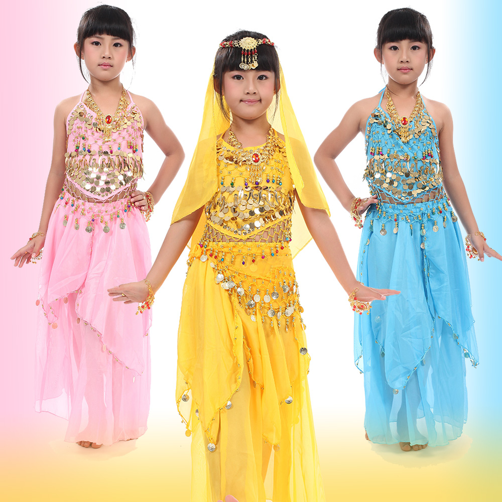 Child costume belly dance clothes performance wear india clothing - chair cover store