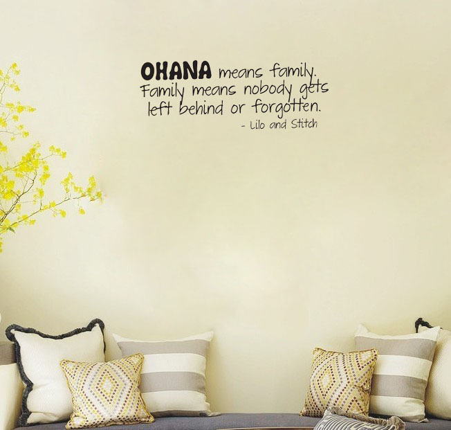 Stitch Ohana Family wall decals vinyl stickers home decor living room ...
