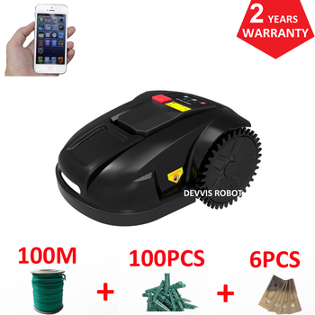 Cheapest Robot Lawn Mower Grass Cutter E1800S Garden Mowing Robot With 2.2AH Li-ion Battery, Water-proofed charger