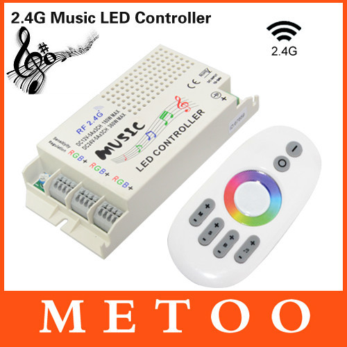 Wireless RF 2.4G DC 12V-24V Music Remote Controller For RGB RGBW Led Strip light 5050 3528 Led Control Music Conductor(China (Mainland))
