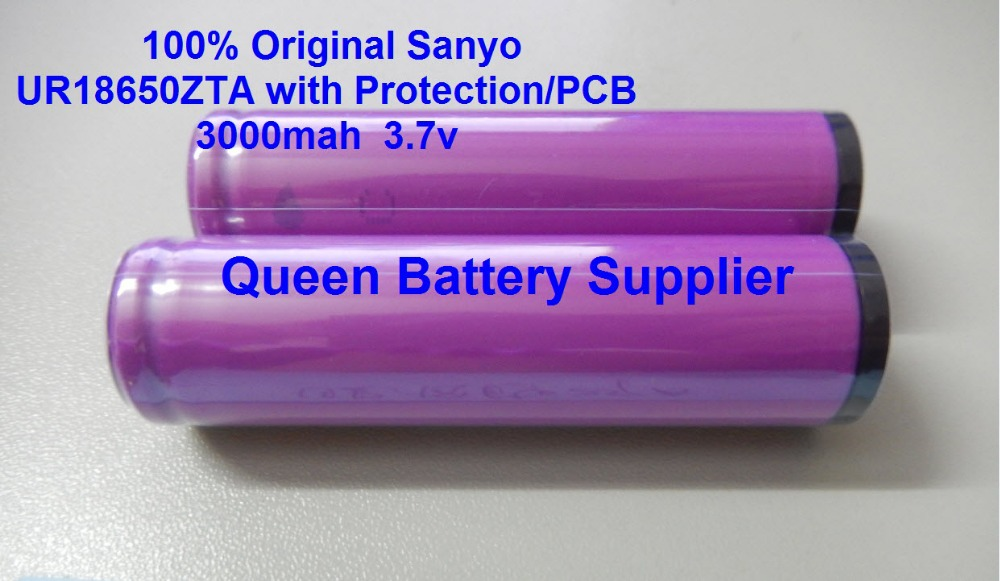 Free shipping  Original 8pcs/lot Sanyo 18650 UR18650ZTA Battery 3.7V 3000mAh rechargeable Batteries With Protected/PCB<br><br>Aliexpress