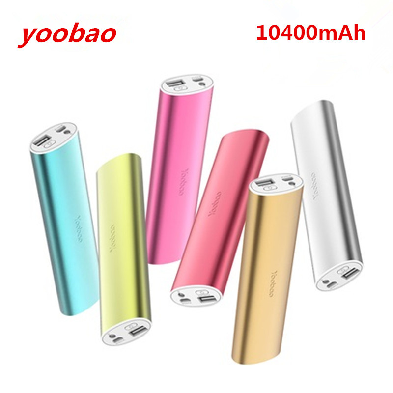 2016 New 100% Original yoobao power bank 10400mAh external battery pack portable charger USB output For phones pad(China (Mainland))