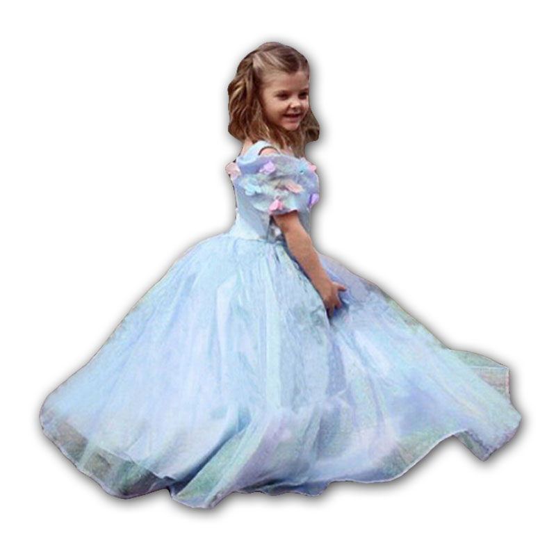 2015 brand new arrived Cinderella dress, Cinderella bowknot dress, girls party performance clothing, children's clothing.(China (Mainland))