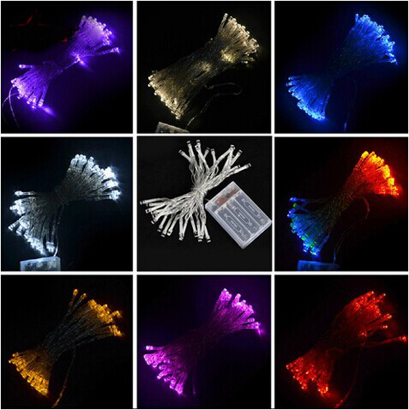 3M 30 LED Battery Operated LED String Lights for Xmas Garland Party Wedding Decoration Christmas Flasher Fairy Lights(China (Mainland))