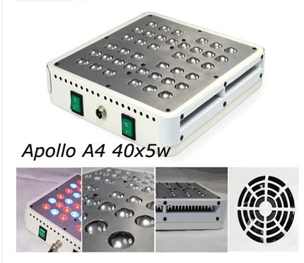200W 40x5W Full Spectrum Apollo LED Grow Light Lamps For Plants Hydroponic Grow LED Plant Cultivo Indoor(China (Mainland))