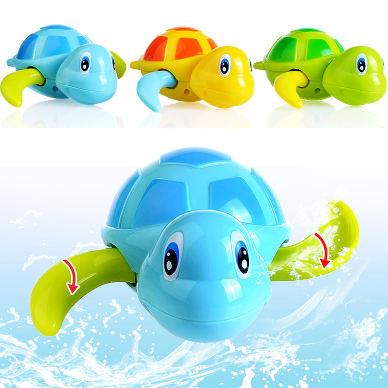 High Quality Baby Toys Little Turtle Bath Toys Swimming Animal Water Toys for Boys Girls Kid Children(China (Mainland))