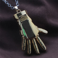vintage hot movie iron man necklace superhero alloy chain necklaces marvel men jewelry 4colors(China (Mainland))